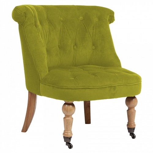 Кресло Amelie French Country Chair оливковый велюр